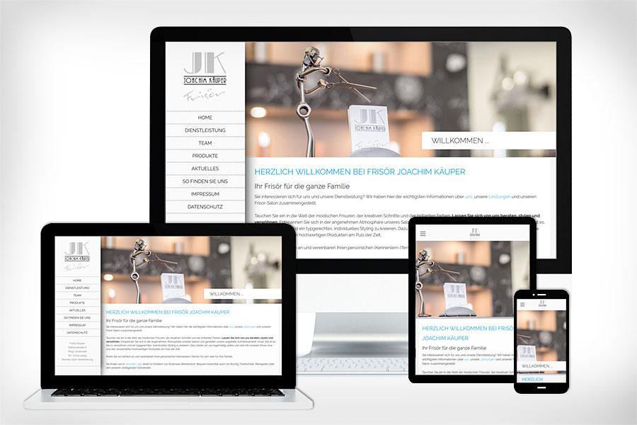 Neue Webseite von Frisörmeister Joachim Käuper. Erstellt durch Christian Zeibig Rocketmedia